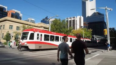 C-trem Calgary — Vídeo stock
