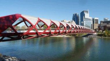 Pedestrian Bridge, Calgary — Stock Video
