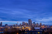 Calgary skyline at early in the morning around sunrise. — Stock Photo