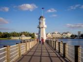 Lighthouse at the Disney Yacht Club — Stock Photo