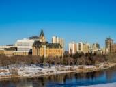 Saskatoon skyline — Foto Stock