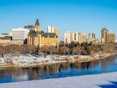 Saskatoon skyline — Stock Photo