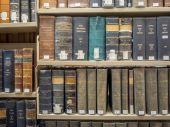 Law Library - Old Law Books — Stock Photo