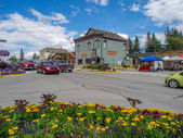 Main street in the town of Invemere — Stock Photo