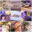 Collage of wedding rings — Stock Photo #53942021