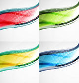Collection of wave layouts — Stock Vector