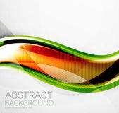 Wave abstract layout design — Stock Vector
