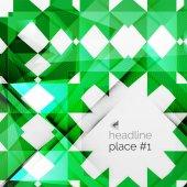 Business futuristic triangle composition — Cтоковый вектор