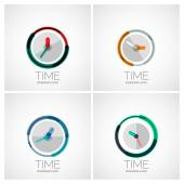 Set of clock, time company logos — Wektor stockowy