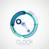 Clock, time company logo, business concept — Vettoriale Stock