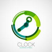 Clock, time company logo, business concept — Stock Vector
