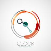 Clock, time company logo, business concept — Wektor stockowy