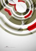 Futuristic rings background — Stockvector