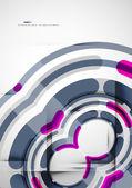 Futuristic rings background — Vecteur