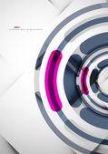 Futuristische ringe hintergrund — Stockvektor