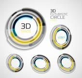 Futuristic circle business logo design — Stock Vector