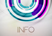 Futuristic rings and circles design template — Stock Vector