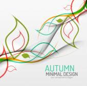 Autumn floral minimal background — Stock Vector