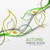 Autumn floral minimal background — Stock Vector