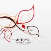秋季花卉最小背景 — 图库矢量图片