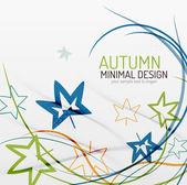 Autumn floral minimal background — Stockvektor