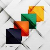 Geometric squares and rhombus futuristic template — Stock Vector