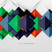 幾何学的な正方形と菱形の未来的なテンプレート — ストックベクタ