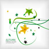 Seasonal autumn greeting card, minimal design — Stock Vector