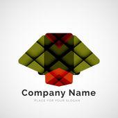 Geometric shape, company logo — Stock Vector
