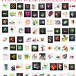 Mega collection of 100 infographic layouts — Stock Vector #52974089