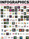 Mega collection of 100 infographic layouts — Stockvector