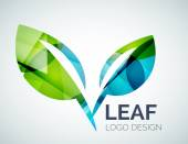 Logo de la hoja — Vector de stock