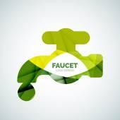 Faucet logo — Cтоковый вектор