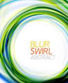 Business color swirl, minimal design template — Stockvektor