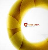 Yellow blur wave abstraction — Vector de stock