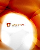 Fire orange abstract swirl template — Vecteur