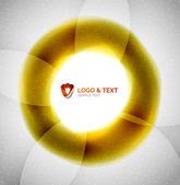 Yellow blur wave abstraction — Vecteur