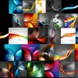 Mega collection of abstract backgrounds — Stock Vector #53754789