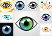 Mega collection of eye design templates — Vetorial Stock