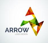 Arrow icon logo design made of color pieces — Stock Vector
