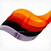 Color orange and purple stripes business design — Stock Vector