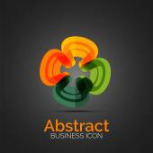 Abstract symmetric business icon — Stock Vector