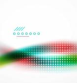 Blurred flowing business wave — Stock Vector