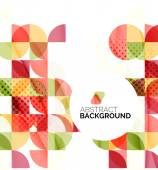 Circle geometric abstract background — Stock Vector