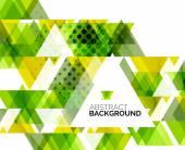 三角形の幾何学的な抽象的な背景 — ストックベクタ