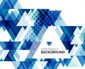 Triangle geometric abstract background — 图库矢量图片