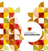 Cirkel geometrische abstracte achtergrond — Stockvector