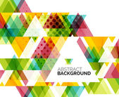 Triangle geometric abstract background — Stock Vector