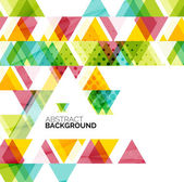 Triangle geometric abstract background — ストックベクタ