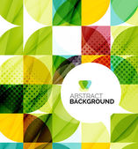 Circle geometric abstract background — Vecteur